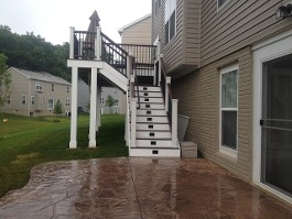 Outdoor Stairs with Lower Deck