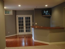 Entertaining Area Basement